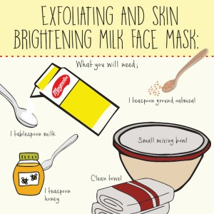 Exfoliating and Skin Brightening Milk Face Mask